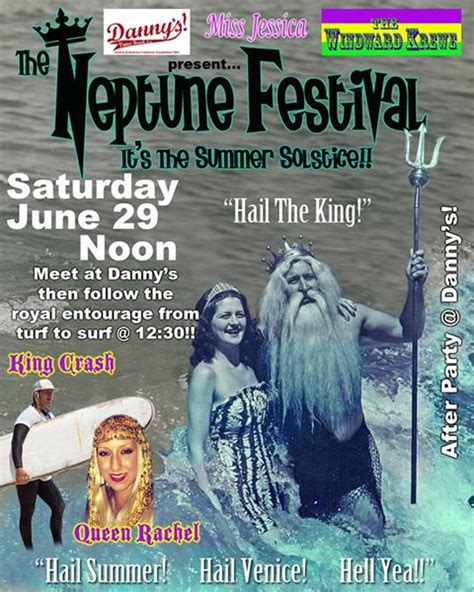 The Great Festival 29th May 3rd June by 3rd Annual Venice Neptune Festival June 29th Yo