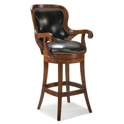 Leather Swivel Bar Stools With Backs by All Bar Stools Wayfair