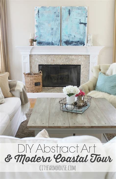diy family room diy abstract modern coastal family room tour city farmhouse