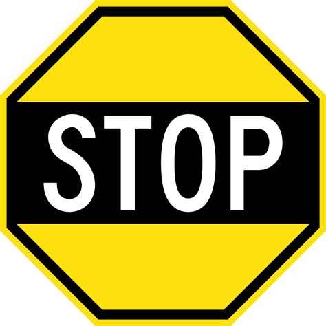 Stop X file early australian road sign stop svg