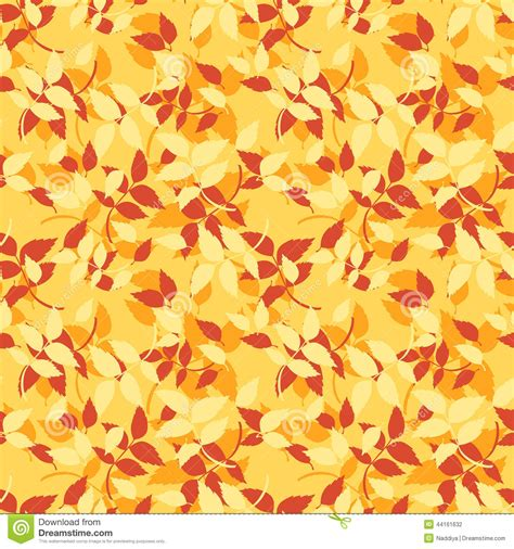 watercolor seamless pattern with pink and orange autumn seamless pattern with red orange and yellow autumn leaves
