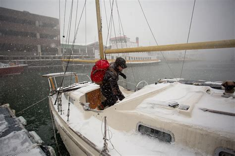living on a boat in winter wintry mix indeed we ve had it all the portland press