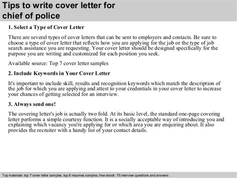 chief of cover letter