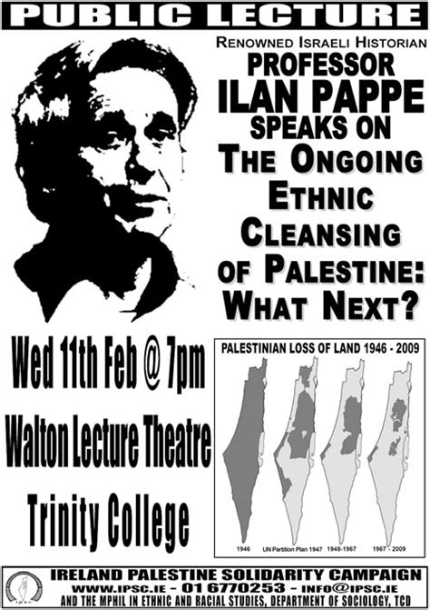 the ethnic cleansing of palestine books lecture prof ilan pappe speaks on the ongoing