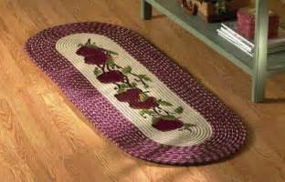braided apple burgundy kitchen rug runner polyester home
