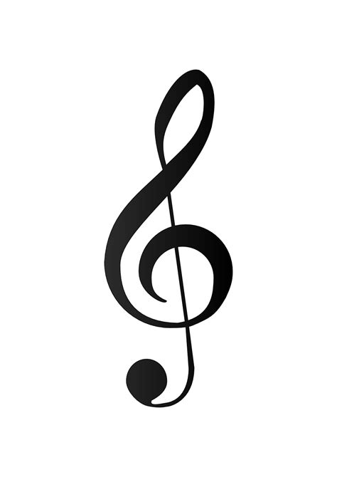music clef tattoo treble clef treble clef bass clef clipart best