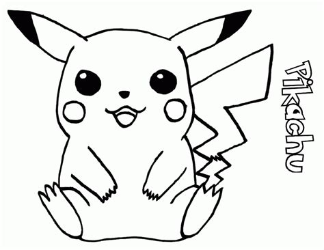 Pokemon Pikachu Coloring Pages Free | free printable pikachu coloring pages for kids