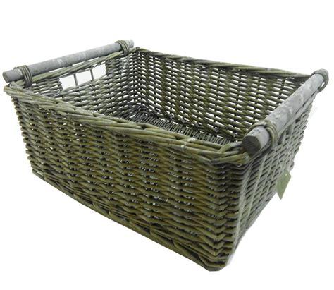 storage with decorative baskets hgtv kitchen log decorative wicker storage basket