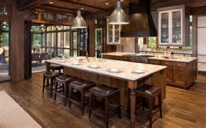 rustic kitchen islands with seating 24 custom kitchen designs pictures by top