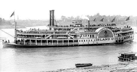 steamboat art steamboat island queen 1906 bw photograph by padre art