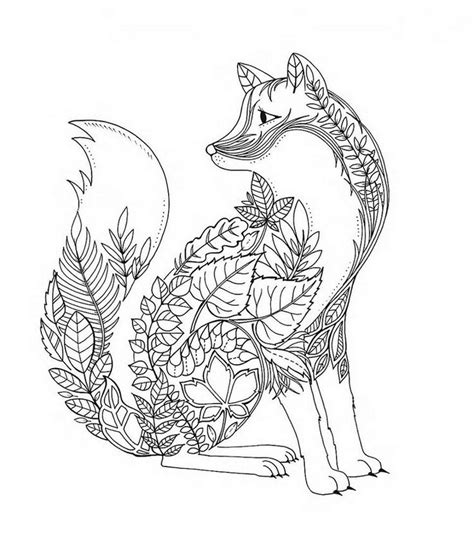 coloring pages for adults fox fox coloring pages for adults search coloring