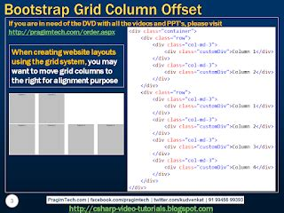 tutorial ci and bootstrap sql server net and c video tutorial bootstrap grid