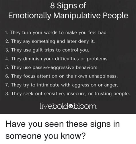 8 Signs Of Guilt by 8 Signs Of Emotionally Manipulative 1 They Turn