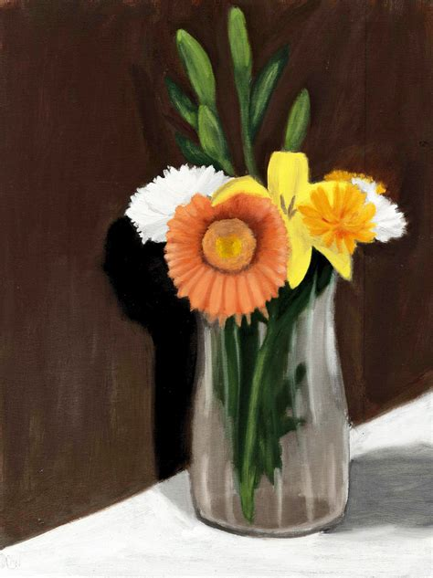 Vase Of Flowers Paintings by Flower Vase Painting The Sweet Breath Of Zephirus