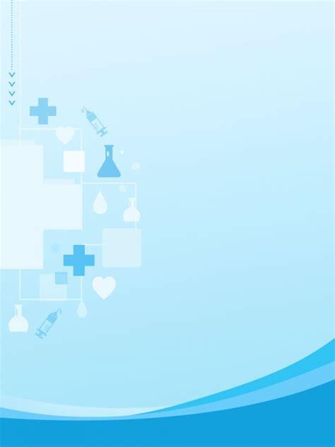 blue hospital medical western medicine poster background