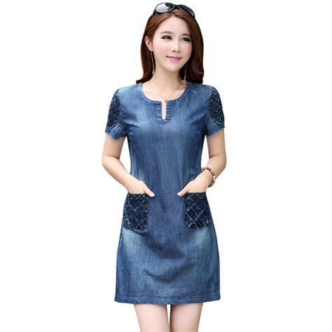 dresa denim high quality summer dress 2016 denim dress