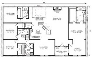 simple ranch floor plans ranch house floor plans 4 bedroom love this simple no