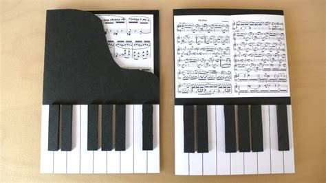 piano template card diy piano cards