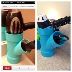 Hair Dryer And Straightener Holder Diy pvc hair dryer holder crafts hair