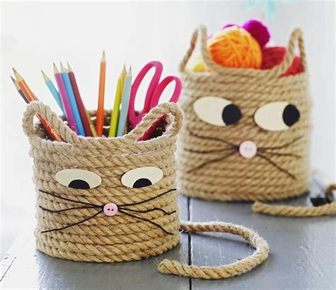 crafts easy easy craft for cat storage baskets storage