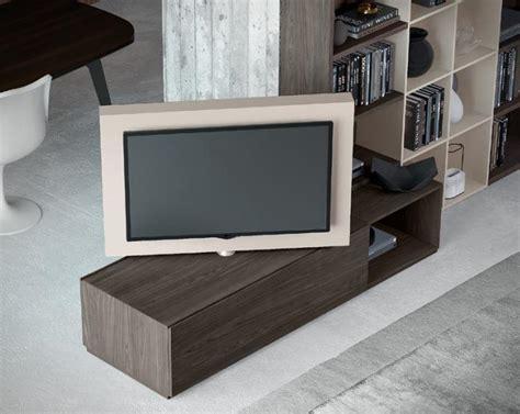 porta tv orientabili porta tv girevole free view 360 176 con base in olmo autunno