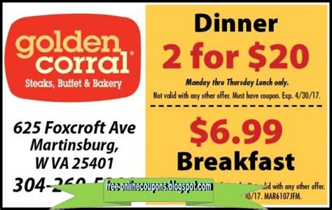 printable coupons 2018 golden corral coupons