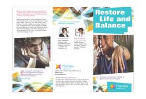 counseling brochure template counseling tri fold brochure exles search