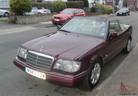 convertible mercedes red 1996 mercedes e220 cabriolet ruby red