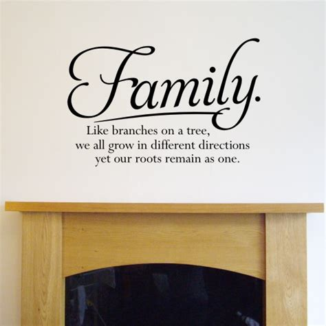 wall sayings stickers wall quote sticker family like branches on a tree h556k