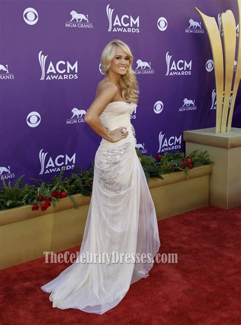 carrie underwood prom dress country  awards  red