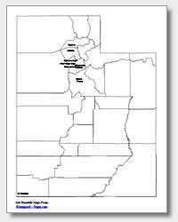 utah labeled map printable utah maps state outline county cities