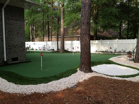 build   practice green east coast synthetic turf