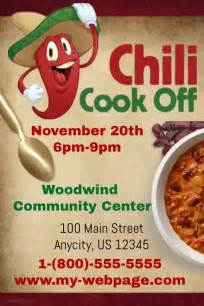 Chili Cook Template by Chili Cook Contest Template Postermywall