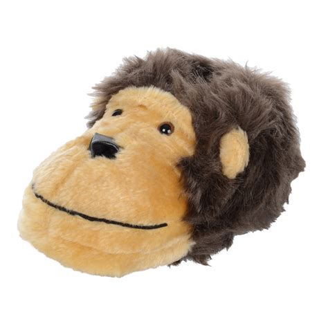 monkey slippers childrens novelty padded faux fur monkey slippers