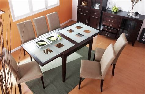frosted glass dining room table spring dining table with frosted checkered glass extension