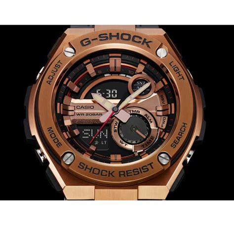 Casio Gshock Gst 210b 4a casio g shock gst 210b 4a g steel series gold