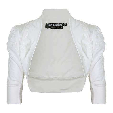 new ruched sleeve stylish shrug bolero cropped cardigan 2 13 years ebay