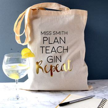 plan teach repeat tote bag by the alphabet gift shop notonthehighstreet