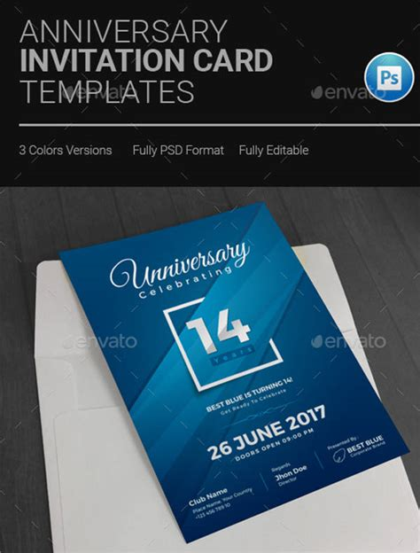 company anniversary invitation card template 44 invitation templates downloadcloud