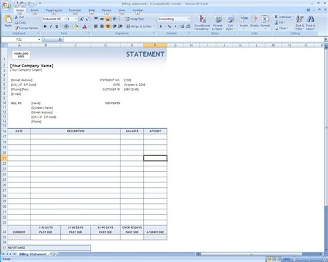 Billing Invoice Template Excel Invoice Exle How To Create A Template In