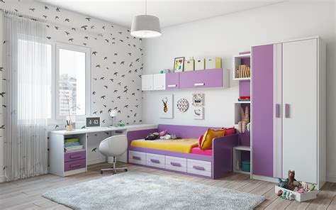 purple and white room super colorful bedroom ideas for kids and teens