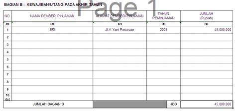 Format Buku Daftar Kunci Pejabat | cara mudah mengisi spt tahunan pph orang pribadi seri iii