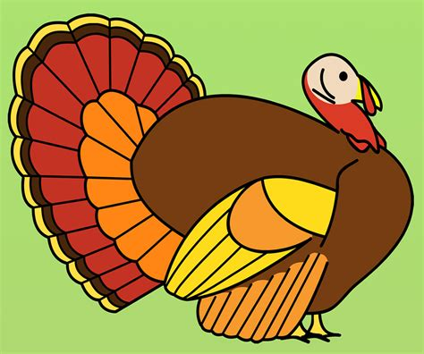 what color is a turkey clip turkey dinner b w thanksgiving