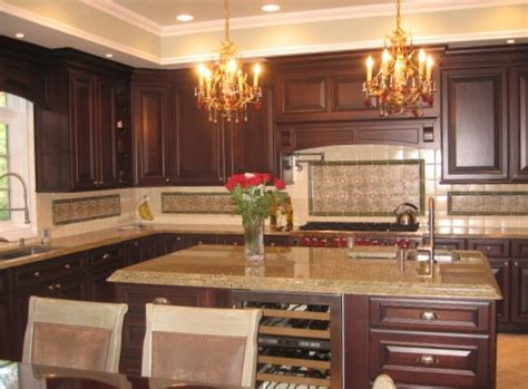 cherry raised panel cabinetry with traditional wood