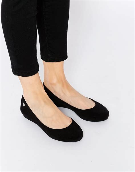 mel flat shoes mel by pop flock flat shoes in black lyst