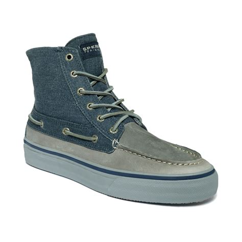 sperry top sider boots mens sperry top sider bahama heavy canvas boots in blue for