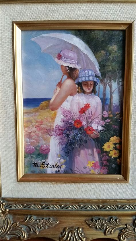 stanley small painting oil  canvas women