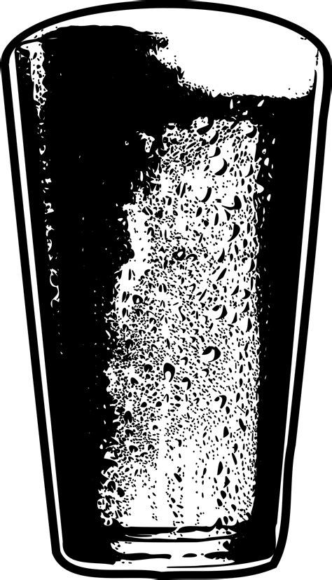 beer cartoon black and white clipart pint of beer detailed black and white