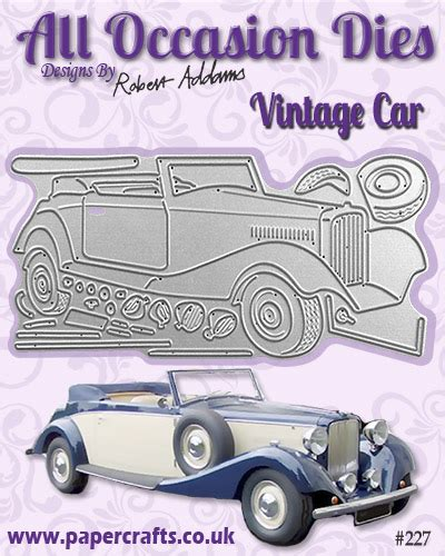 Papercrafts Co Uk - all occasion dies vintage car 227 papercrafts