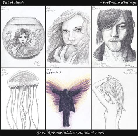 365 Sketches Drawings by 365 Drawing Challenge Best Of March By Wildphoenix22 On